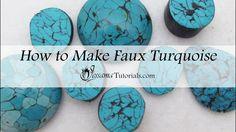Polymer clay is a great medium for creating faux stones and one of those stone is faux turquoise. Real turquoise comes in many different variations. Almost t...