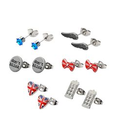 Look at this Stainless Steel Doctor Who Earring Stud Earrings Set on today! Doctor Who Birthday, Piercings, Birthday Gifts, Cufflinks, Stud Earrings, Stainless Steel, Pairs, Purses, My Favorite Things