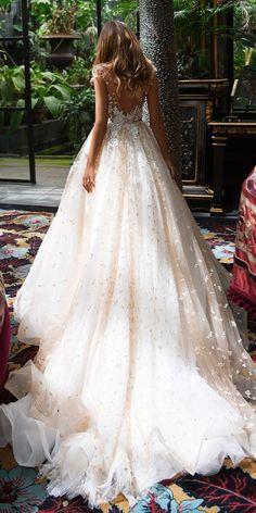 Milla Nova 2018 Wedding Dresses Collection ❤️ milla nova 2018 blush ball gown lace low back sleeveless embroidered wedding dresses sensuella ❤️ See more: http://www.weddingforward.com/milla-nova-2018-wedding-dresses/ #weddingforward #wedding #bride