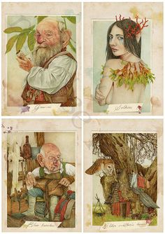 Corte Bendita Guía de seres mágicos. Libro por MontseRubioArt