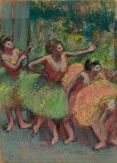 Edgar Degas Dancers in Green and Yellow ( Danseuses vertes et jaunes ), ca. 1903, the Solomon R. Guggenheim Foundation