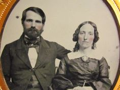 victorian husband and wife ambrotype photograph in Collectibles, Photographic Images, Vintage & Antique (Pre-1940), Ambrotypes | eBay