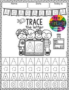 Free 52 pages Trace the Letters From A to Z