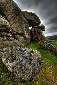 Granite boulders, near Bodmin, Cornwall--Photo by Caroline Bland