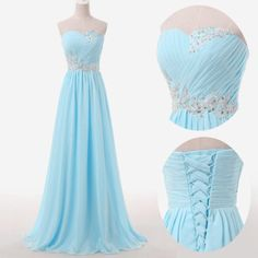 Back up lace ice blue prom dresses,sweetheart beaded evening dresses