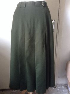 Dark Green Military Style by MonaBellsVintage Military Style, Military Fashion, Vintage Clothing, Vintage Outfits, Wool Skirts, Dark, Trending Outfits, Green, Inspiration