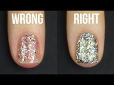 Glitter Nail Polish Hacks For Your Next Manicure:Skin Care Top News Glitter Gradient Nails, Glitter Manicure, Glittery Nails, Glitter Nail Polish, Nail Polish Colors, Nails Polish, Acrylic Nails, How To Paint Glitter Nails, Glitter Nail Designs