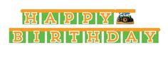 TRACTOR TIME Happy BIRTHDAY BANNER Farm Party Supplies Decorations