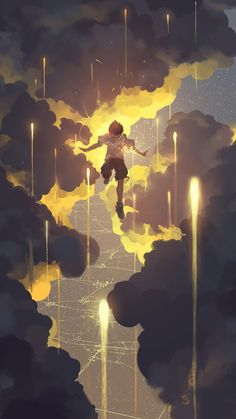 Find images and videos about anime, anime boy and scenery on We Heart It - the app to get lost in what you love. Art And Illustration, Illustrations, Fantasy Kunst, Fantasy Art, Wow Art, Anime Scenery, Art Inspo, Amazing Art, Character Art