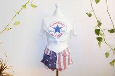Vintage converse unisex t shirt.  White fit by VintageVanillaShop
