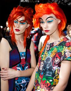Makeup by M.A.C for Romance Was Born during fashion week