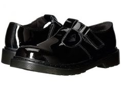 Dr. Martens Kid's Collection Goldie (Toddler) (Black Patent) Girl's Shoes