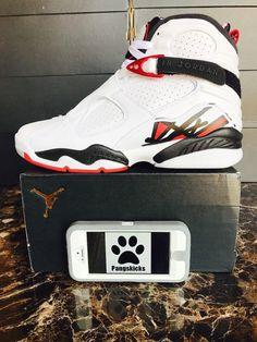 Nike Air Jordan 8 Retro Alternate White 305381-104 Size 11.5-15 826215528753 | eBay