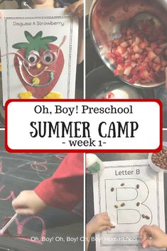 Oh, Boy! Preschool Summer Camp week 1 is packed with fun engaging learning activities to help your child prepare and retain preschool fundamentals and skills. Early Learning, Fun Learning, Learning Activities, Summer Preschool Activities, Preschool Lessons, Kindergarten Homeschool Curriculum, Preschool Classroom, Homeschooling, Kids Camping Chairs