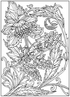 Vintage Flower Coloring Pages on Behance Spring Coloring Pages, Flower Coloring Pages, Animal Coloring Pages, Coloring Book Pages, Coloring Sheets, Detailed Coloring Pages, Pattern Coloring Pages, Free Adult Coloring Pages, Pixel Art