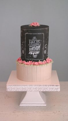 - Cake by Yummie Sweet Cakes Pretty Cakes, Beautiful Cakes, Amazing Cakes, Cupcakes, Cupcake Cakes, Cake Icing, Bolo Chalkboard, Barrel Cake, Surprise Cake
