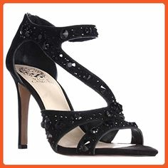 Vince Camuto Kayanne Jeweled Strappy Dress Sandals - Black, 6.5 M US / 36.5 EU - Sandals for women (*Amazon Partner-Link)