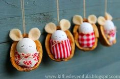 Best of 2015 Christmas Craft Projects, Christmas Ornaments To Make, Noel Christmas, Diy Craft Projects, Diy Crafts For Gifts, Diy Arts And Crafts, Crafts For Kids, Walnut Shell Crafts, Christmas Cake Pops