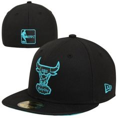 9349a0def52 New Era Chicago Bulls Nylon Vize 59FIFTY Fitted Hat - Black