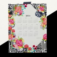 MICHI GARDEN 2014 large canvas wall calendar by khristian a howell