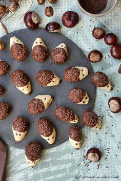 Igelkekse   Rezept   Backen   Herbst Foodblogger, Pretzel Bites, Bread, Cookies, Desserts, Fungi, Treats, Fall, Recipes