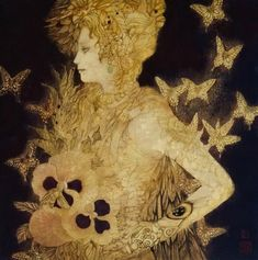 Femme et papillons - Masaaki Sosamoto
