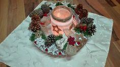 na vánoční tabuli, christmas table decoration