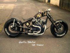 Ghetto Blaster bike - Sledhead Bobbers custom built evo sportsters