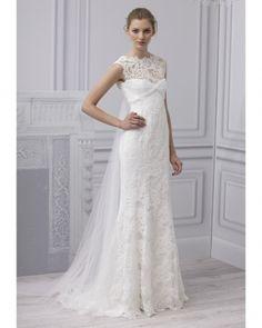 Monique LHuillier 2013 Bridal Collection – Lashings of Glamour Wedding Dress 2013, Lace Wedding Dress, Amazing Wedding Dress, Wedding Dress Styles, Bridal Dresses, Wedding Gowns, Lace Dress, Ruffled Dresses, Blue Wedding