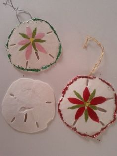 Sand Dollar Ornaments Ideas | Christmas Tree Themes: Christmas At The Beach