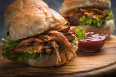 Ketchup, Pulled Pork, Street Food, Bacon, Snacks, Ethnic Recipes, Finger, Simple, Recipes