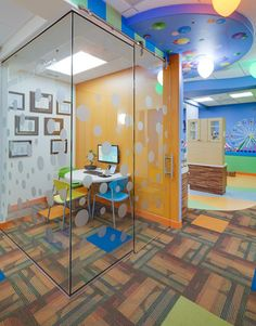 CONSULTATION ROOM. Pediatric Dentist in Del Mar, California. Kid-Friendly Carnival Themed Office. #SunnySmilesKids