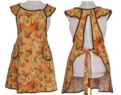 Hey, I found this really awesome Etsy listing at https://www.etsy.com/listing/210303085/apron-browns-and-yellows-roses-full