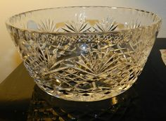 Poland Lead Crystal Serving Bowl by PeggysVintageVariety on Etsy