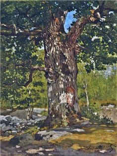 The Bodmer Oak 1865 - Claude Monet ~Reminds me of steaming hot summers laying beneath the trees after a cool refreshing dip in the water.