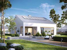 Projekt domu Ralf II Energo Plus - Minimal Architecture, 2 Bedroom House, Minimal Home, Small House Design, Tropical Houses, Small House Plans, Architect Design, Exterior Design, Future House