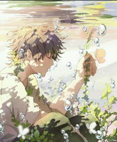 Spain, Hetalia. I love how this is so peaceful then I realize that he is underwater and will run out of air soon and I get concerned and then I realize that's not the point.