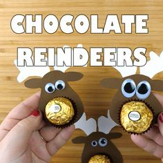 Make some adorable little ferrero rocher chocolate reindeer treats for your friends and family! They are so easy and they will LOVE them! Supplies Needed: Ferrero Rocher gold chocolates Brown and white card stock paper Glue Scissors Googly eyes Start by drawing a reindeer face on the brown card stock paper then cut it out. …