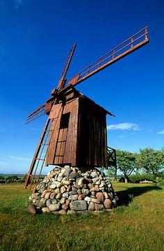 Estonia, Saaremaa island, peninsula of Sorve, windmill in Jamajala village