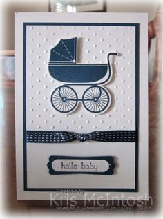 Something Old, Something New, Something For Baby, Baby First Framelits, Teeny Tiny Sentiments, Midnight Muse ink and card, Midnight Muse Stitched Satin Ribbon, Perfect Polka Dots Embossing Folder, Word Window Punch, Modern Label Punch, by Kris McIntosh, www.stampingwithkris.com