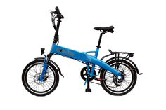 2017 e-Joe Epik SE Sport Edition Electric Bicycle Electric Folding Bike ++FREE GIFT 16000mAh Solar Dual USB Phone Charger Power Bank(Sky Blue). Powerful and portable for your commute or leisure ride 350W Rated with 550W Peak Rear Brushless geared hub motor. Brand New upgrade 36V13Ah LG high capacity 18650 cells battery located inside frame! USB charger port in new opening on outside of frame. Zoom Front and rear 160mm Disc Brake, 7 Speed Shimano Tourney TX-55. APPEARANCE WILL BE SLIGHTLY...