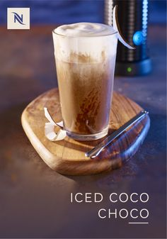 Nespresso: Cheers to the weekend! Celebrate with this Iced Coco Choco. Chocolate Day, Chocolate Ice Cream, Coconut Chocolate, Nespresso Recipes, Coconut Syrup, Diabetic Friendly, Chef Recipes, Non Alcoholic, Coffee Recipes