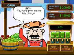 Tiny Chicken Learns Currency : Farmers Market ($0.00 for limited time) Help Tiny sell items at the Farmers Market and learn about currency. In this game, people from the village come down to the Farmer's Market which is run by you.They buy goods and pay in cash and it is your job to tender the correct amount of change. Sell 10 items correctly to win the game! Provides a fun environment for children to practice their addition, subtraction, multiplication & division skills while playing shop.