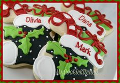 Merry Christmas Stocking decorated cookies