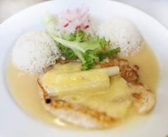 Denné menu Vranov | Zapekané kuracie prsia so špargľou a syrom, dusená ryža - reštaurácia Hotel Patriot*** #hotel #restaurant