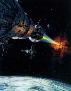 Science Fiction Illustrations by John Berkey - Sci-Fi Space Art Arte Sci Fi, Norman Rockwell, John John, King Kong, John Berkey, Sci Fi Kunst, Science Fiction Kunst, National Geographic, 70s Sci Fi Art