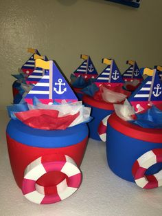 Nautical ice cooler holder hielera boat and safeguard Baby 1st Birthday, Happy Birthday, Ice Cooler, Nautical Party, Birthday Decorations, Salvador, First Birthdays, Bb, Crafts