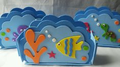 Lindo Porta Guardanapo feito em EVA Tema Fundo do Mar