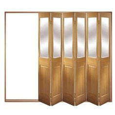 Image of Folding Doors, IFS-6FCBEV (Open Right or Left) Victorian 6 Door Set, Frame & Glass