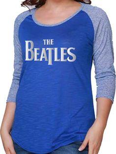10a9847f05b Beatles T-shirt - Raglan Foil Logo - Retro Tee http   www